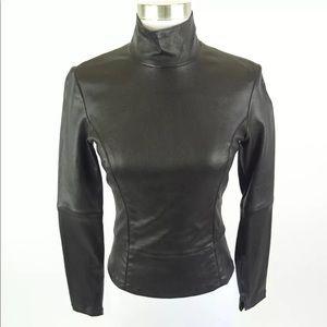 Maison Martin Margiela Black Leather Jacket, 40